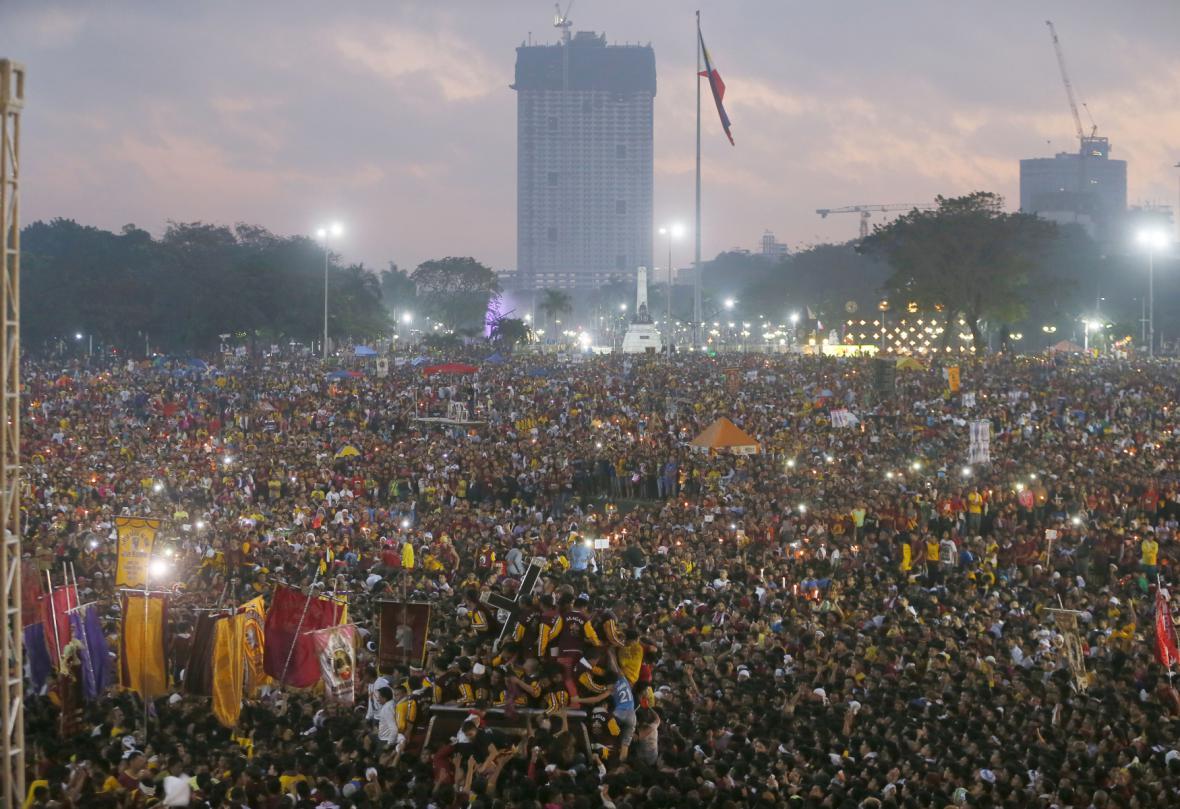 Procesí v filipínské Manile