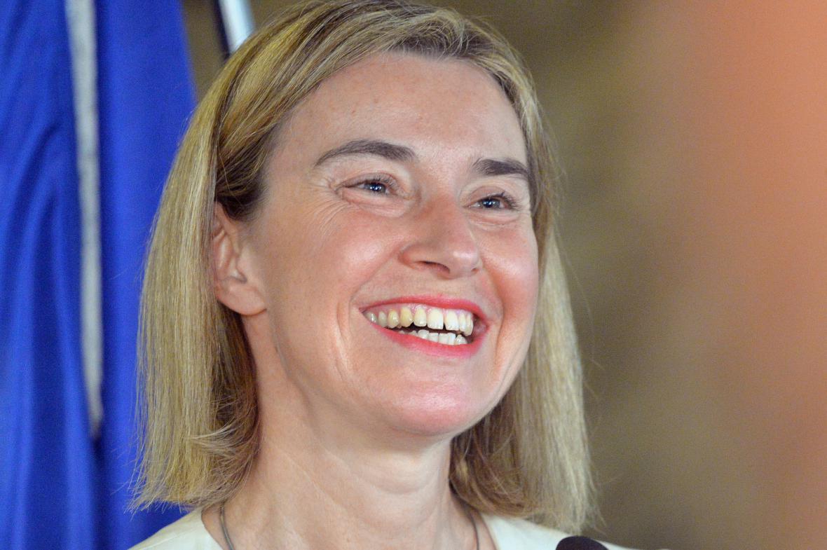 Federica Mogheriniová na návštěvě Prahy