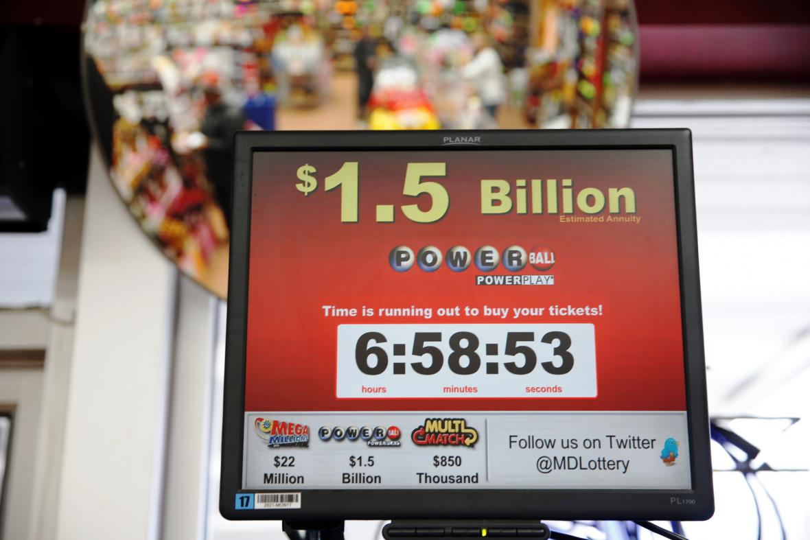 Rekordní jackpot loterie Powerball