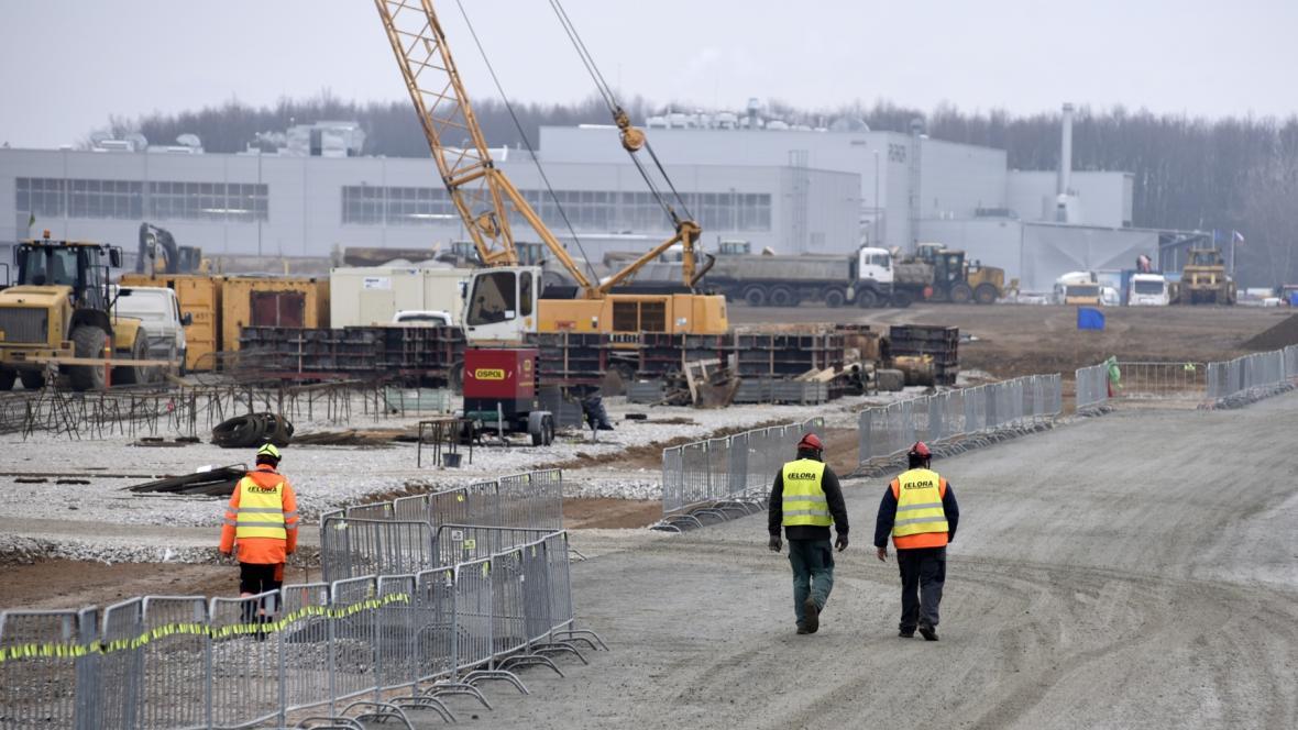 Stavba průmyslové zóny v Mošnově