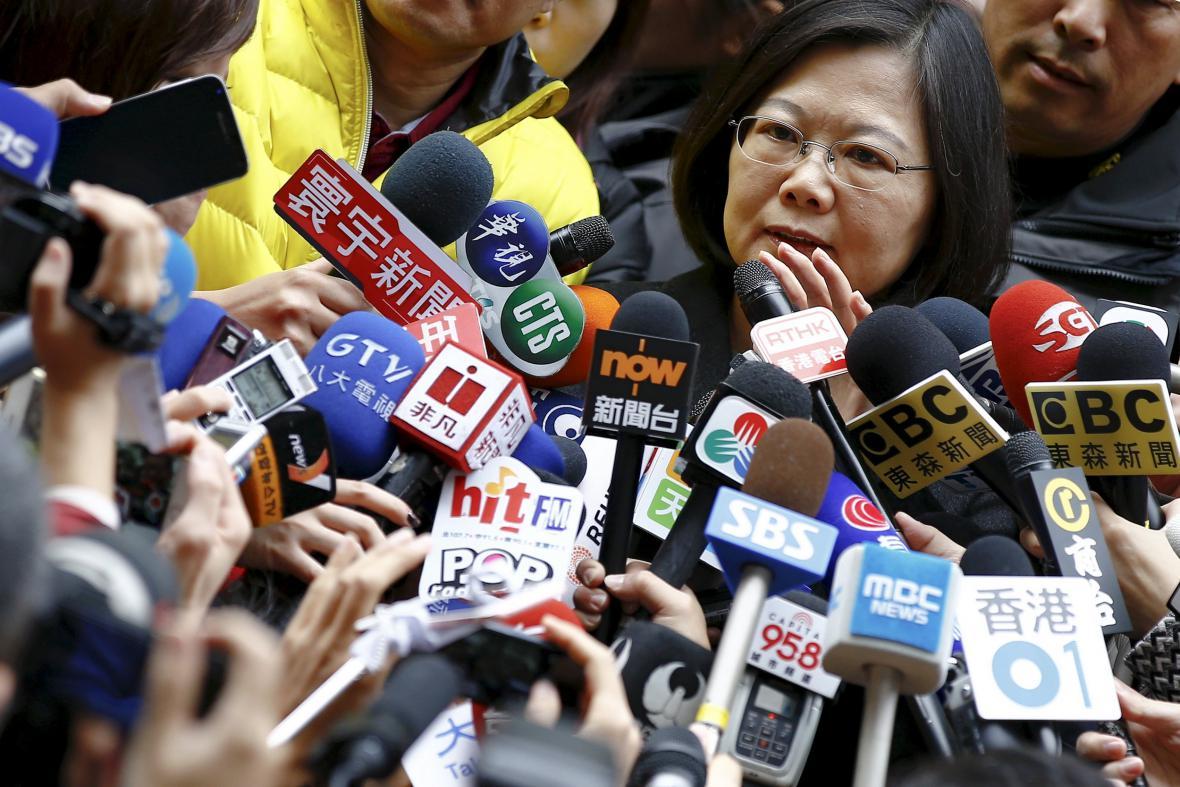 vůdkyně tchajwanské demokratické strany Cchaj Jing-wen