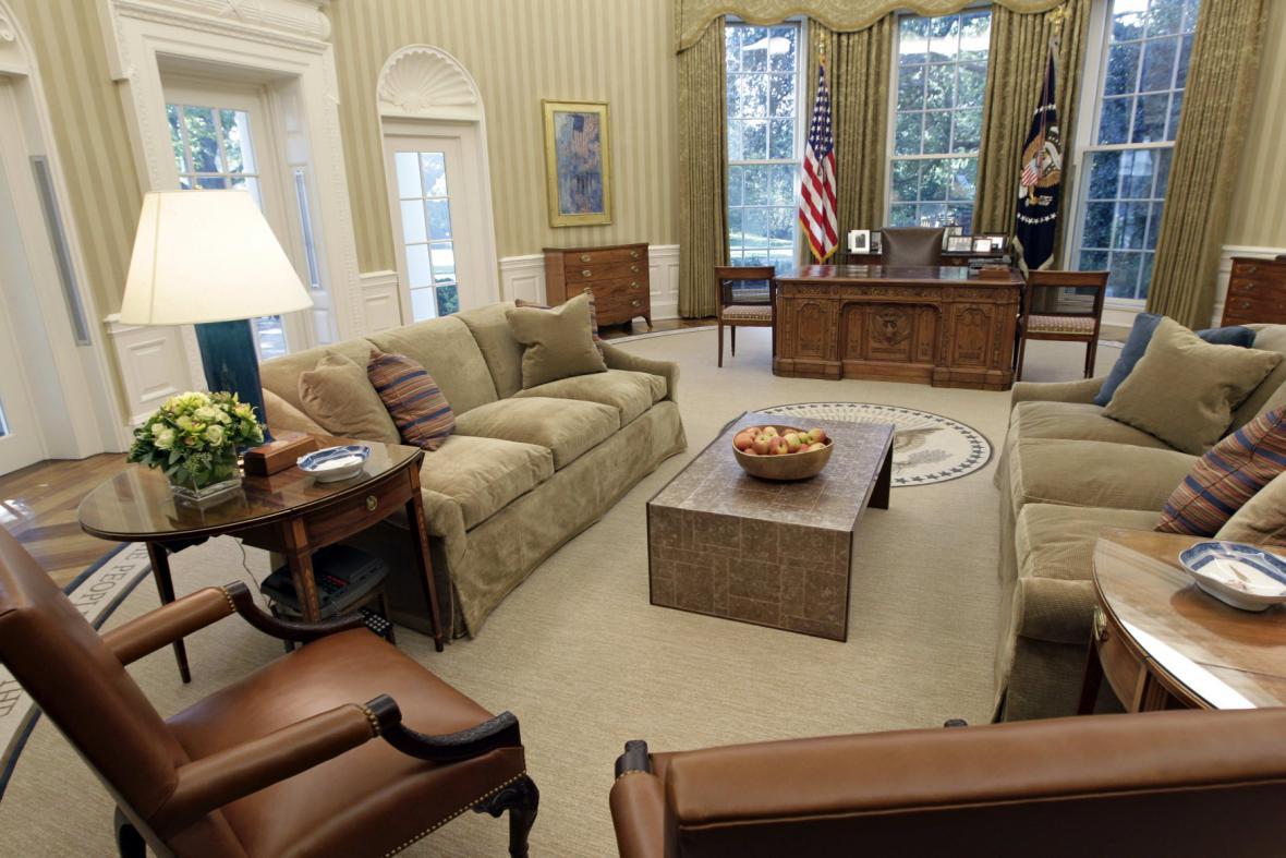 Oválná pracovna v Bílém domě