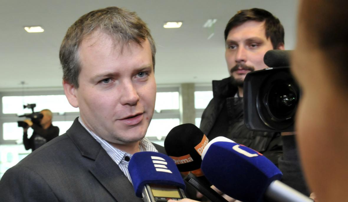 Tomáš Březina na snímku z 22. prosince 2015
