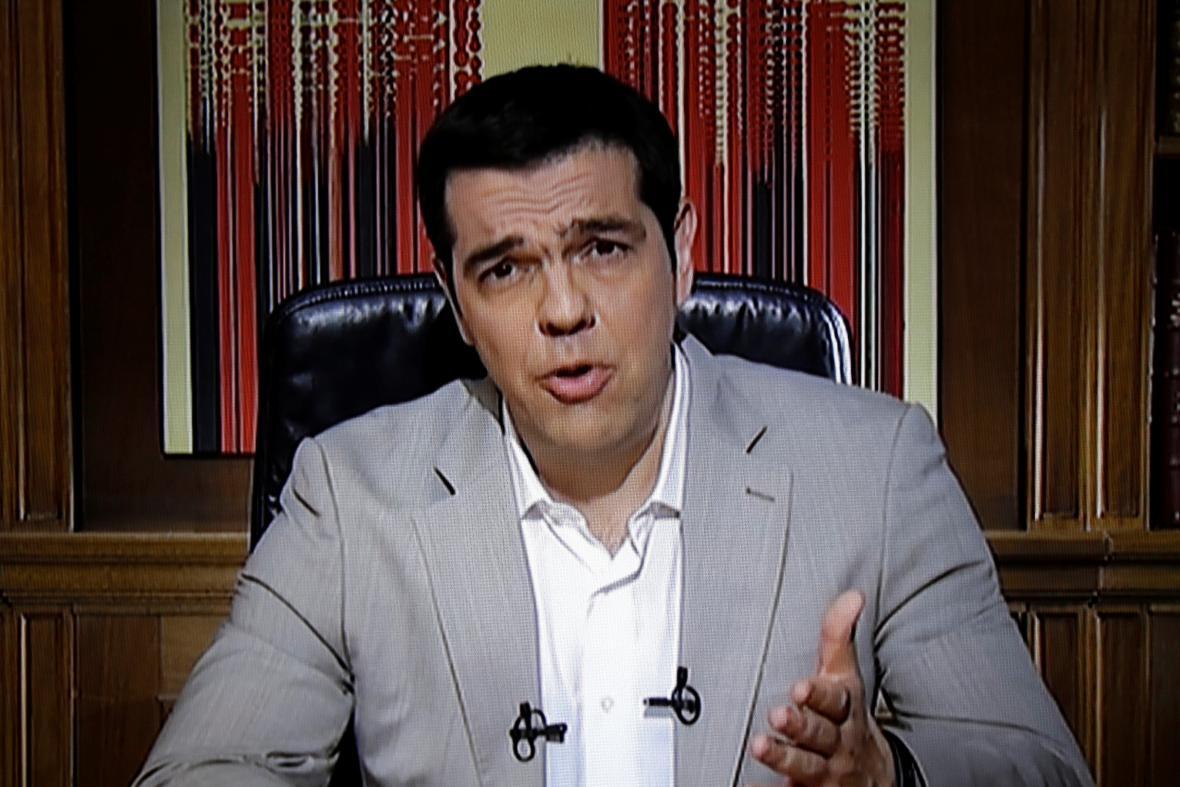 Řecký premiér Alexis Tsipras promluvil k Řekům prostřednictvím televize
