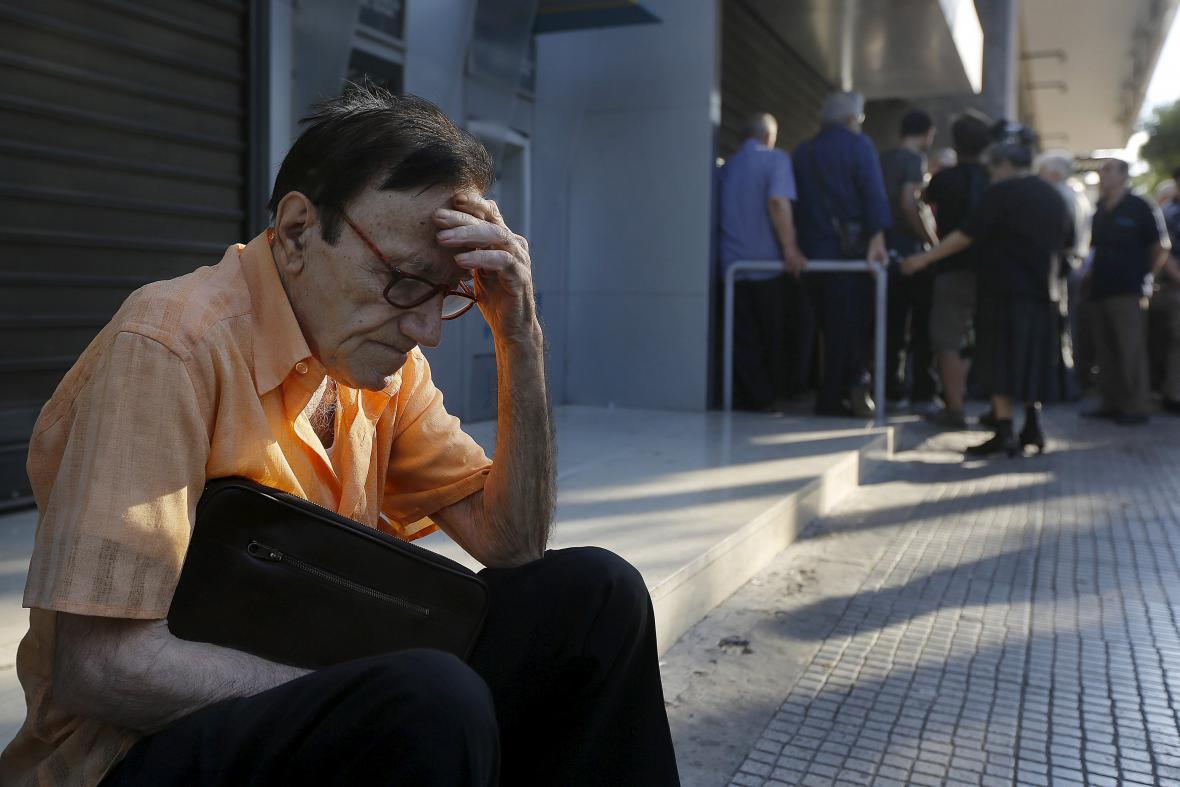 Zavřené banky v Aténách