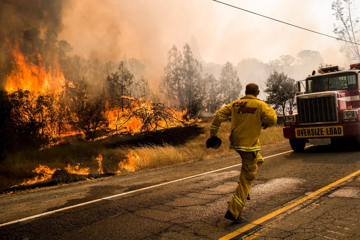 Požár v Lake County