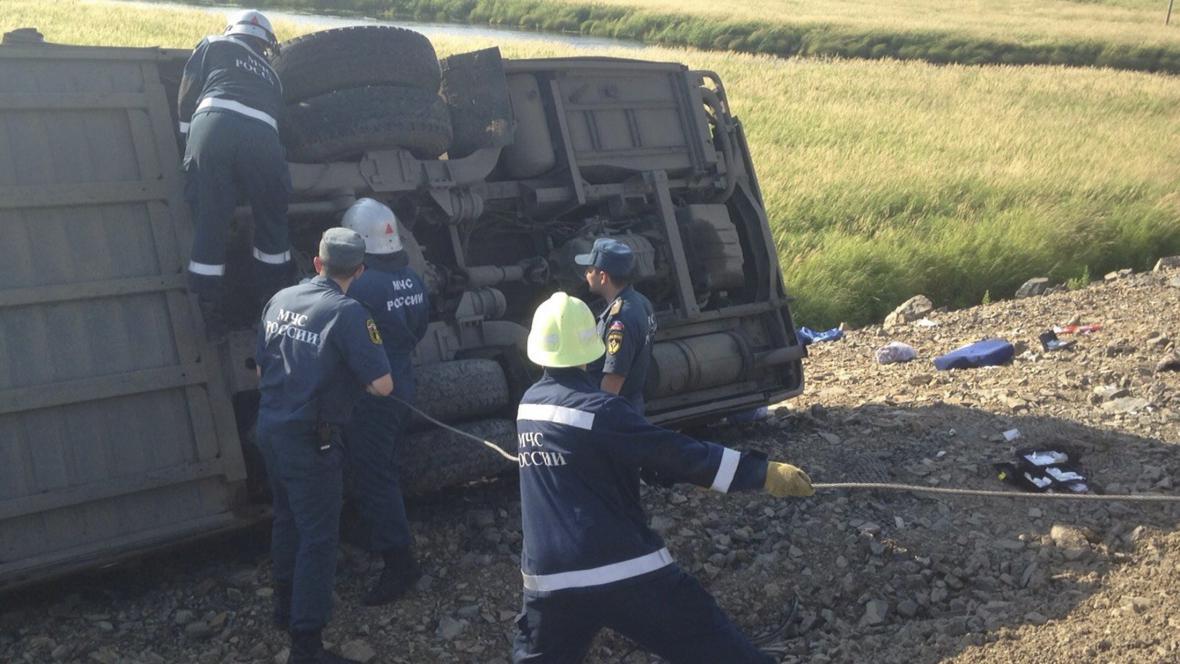 Srážka autobusů v Rusku