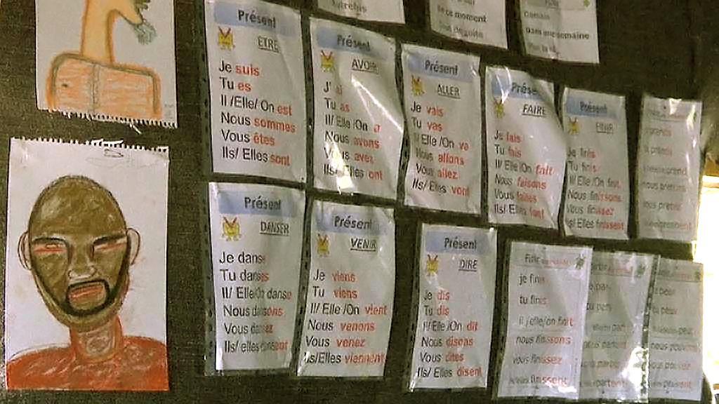 Škola francouzštiny v uprchlickém táboře v Calais
