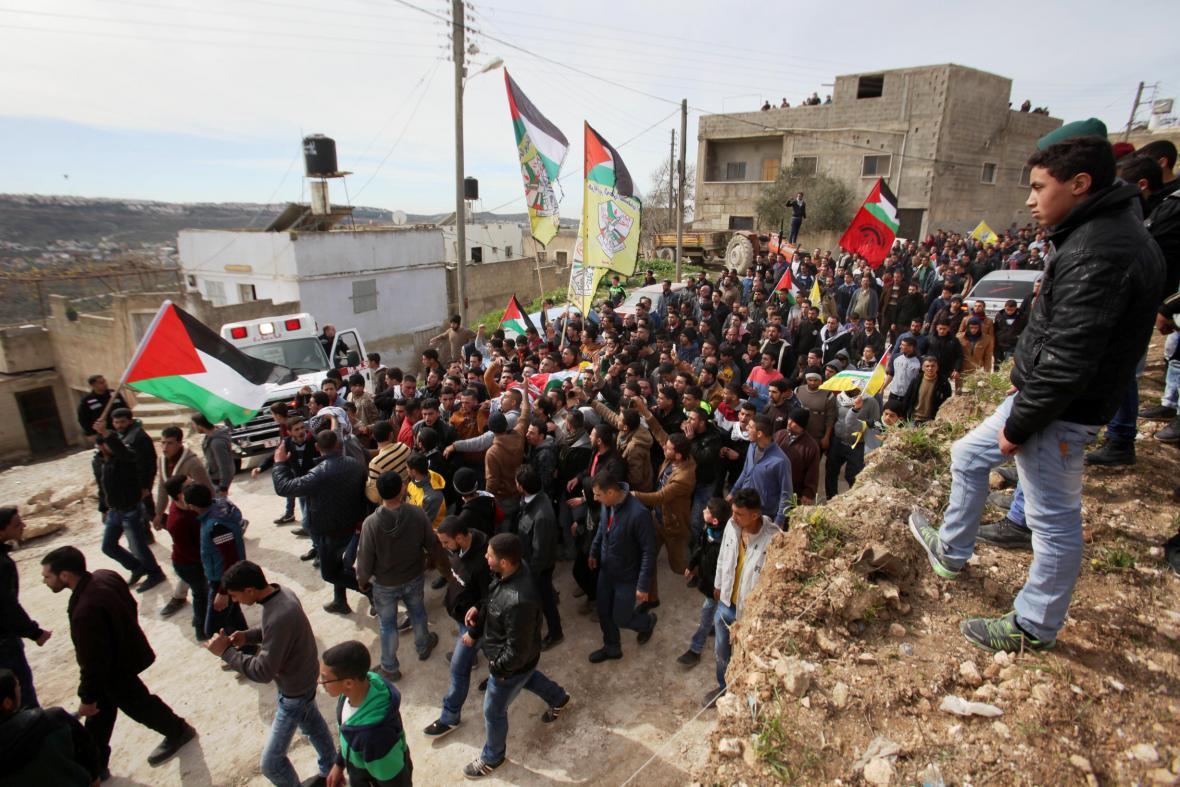 Pohřeb Amjada Abu Omara