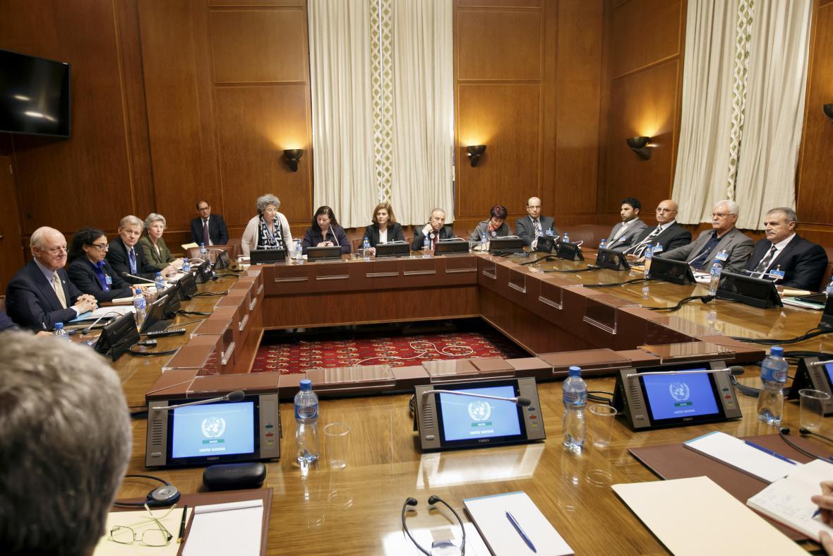 Syrská mírová jednání v Ženevě