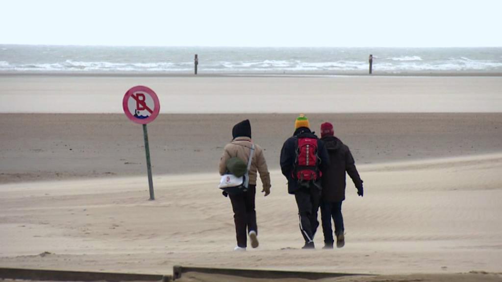 Migranti v belgickém Zeebrugge