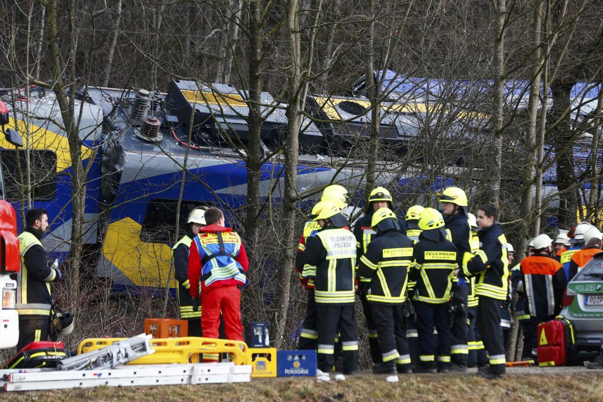 Železniční tragédie v Bavorsku