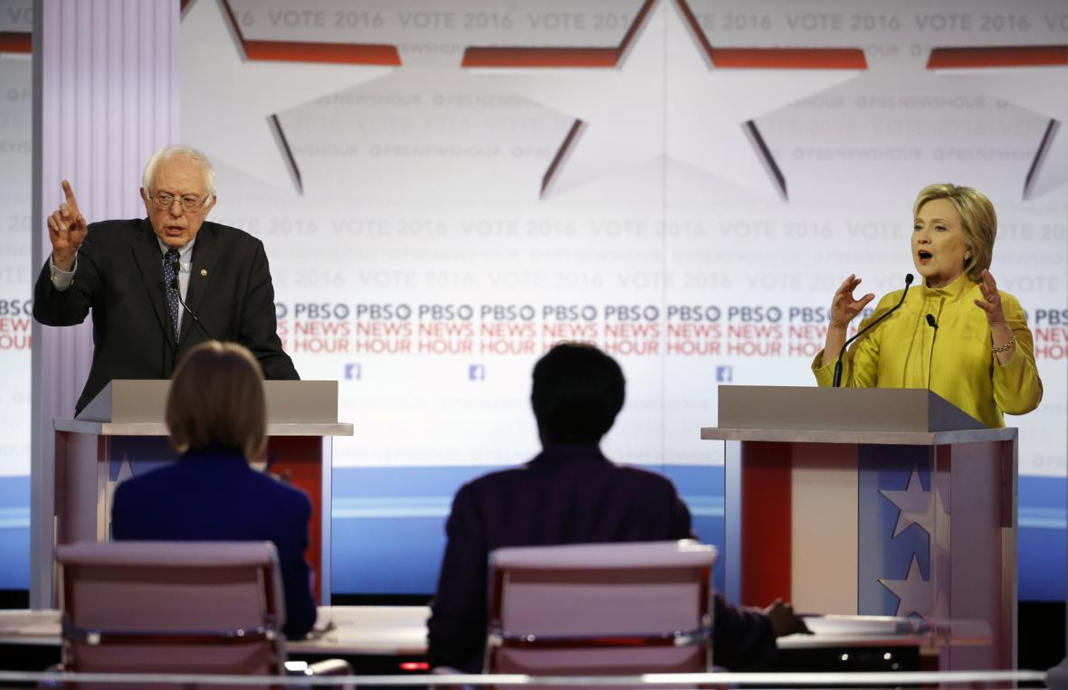 Debata demokratických kandidátů