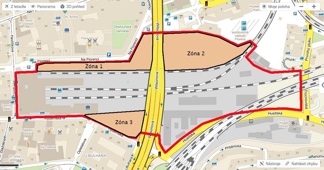 Ze zanedbaného prostoru mezi Masarykovým nádražím a autobusovým nádražím Florenc na Praze 1 by se měla do pěti let stát nejvýznamnější obchodní a dopravní křižovatka v hlavním městě.