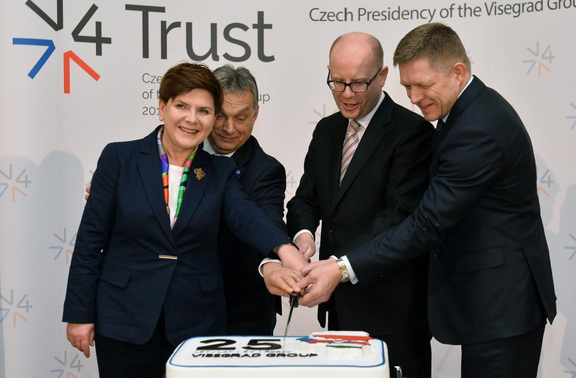 Mimořádný summit zemí visegrádské skupiny 15. února v Praze