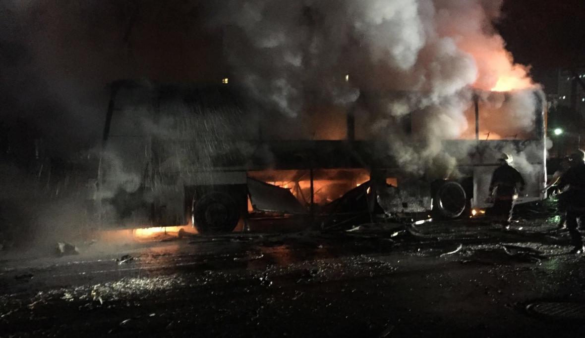 Místo výbuchu v centru Ankary