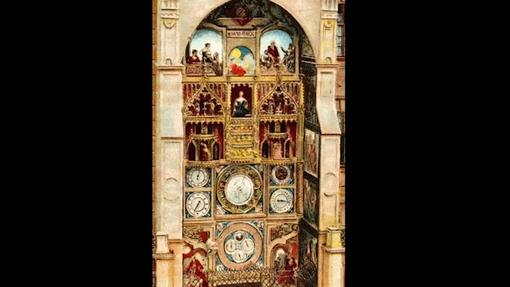 Původní podoba orloje v Olomouci
