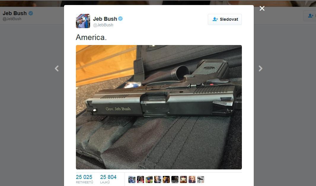 Příspěvek Jeba Bushe na Twitteru