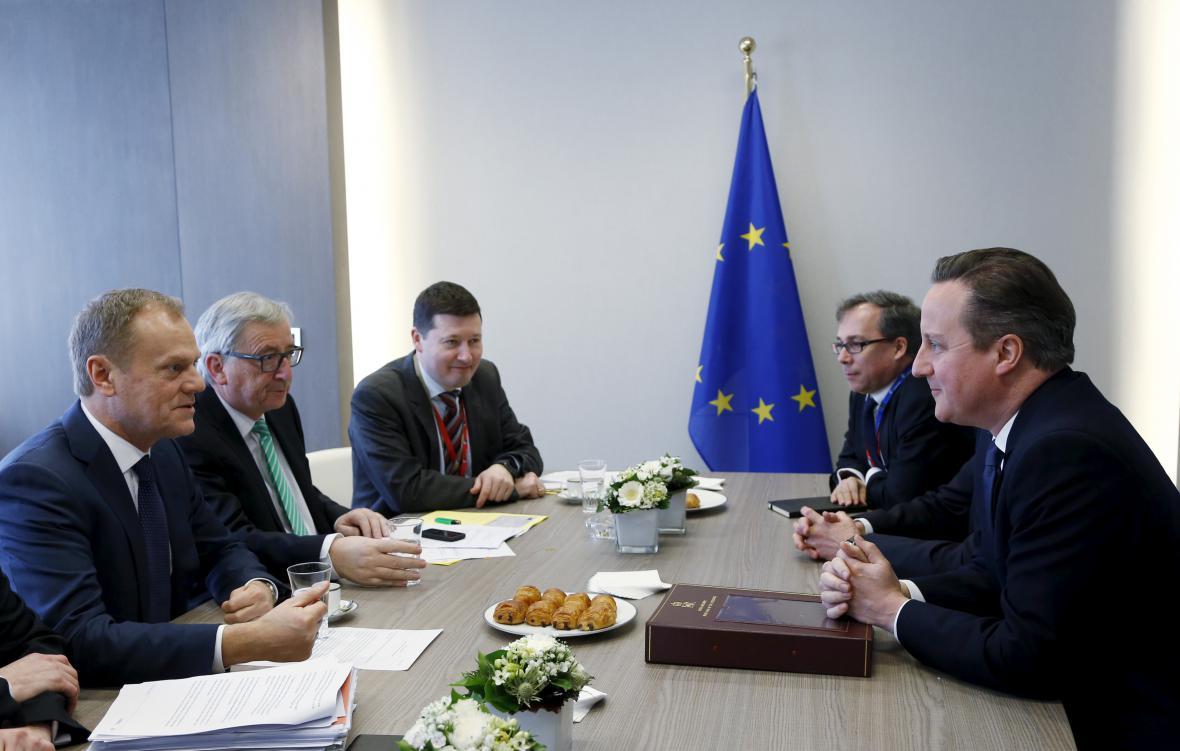 Jednání Camerona s lídry Evropské unie