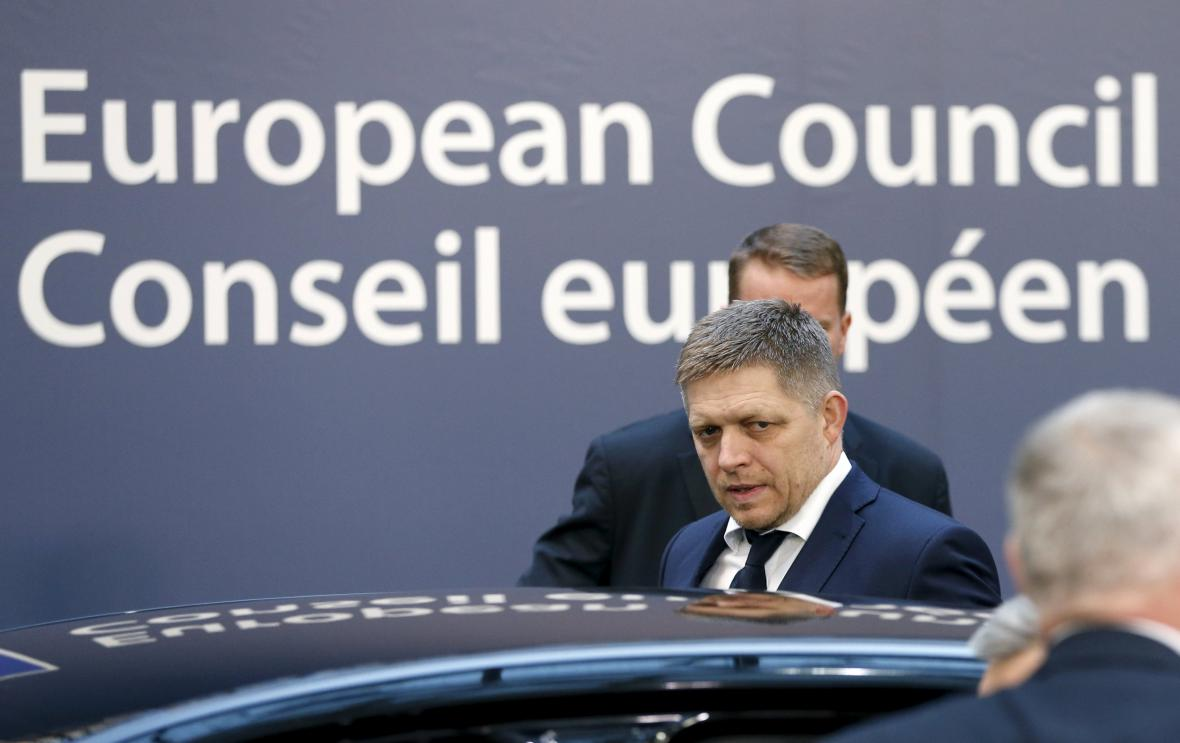 Robert Fico na summitu EU