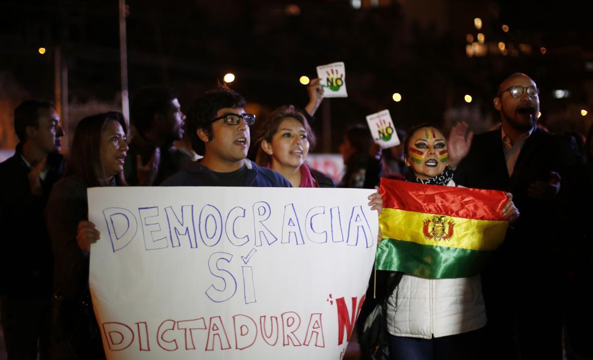 Odpůrci prezidenta Moralese