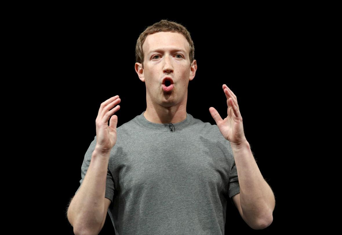 Mark Zuckerberg během návštěvy Německa