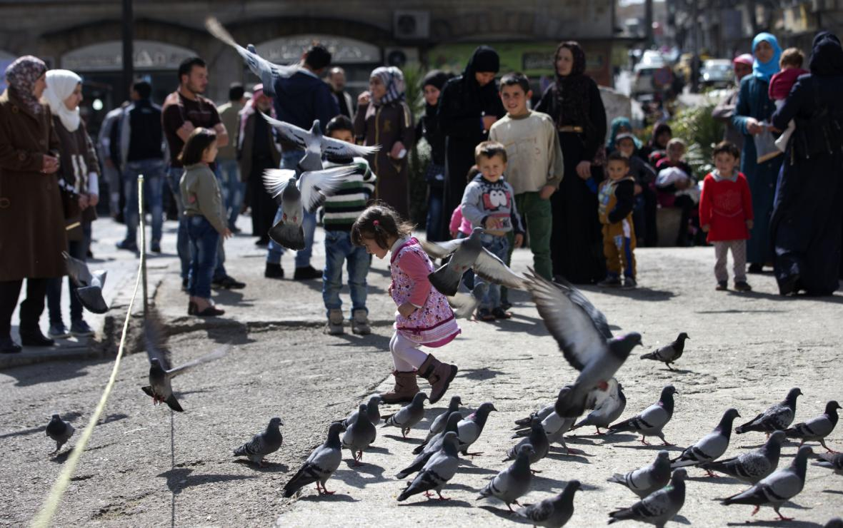 Obyvatelé Damašku si po dlouhé době užívají idylku