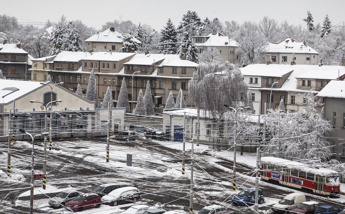 Sníh v Praze