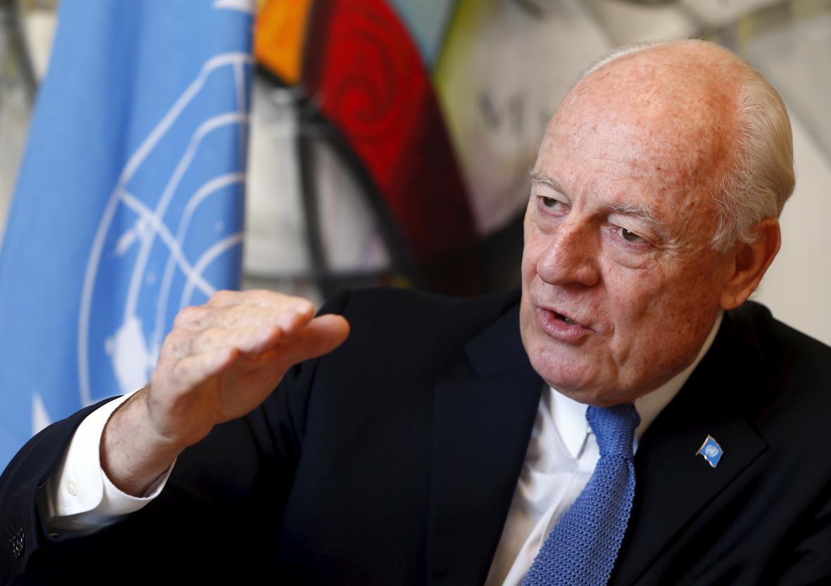 Staffan de Mistura ohlásil další mírové rozhovory