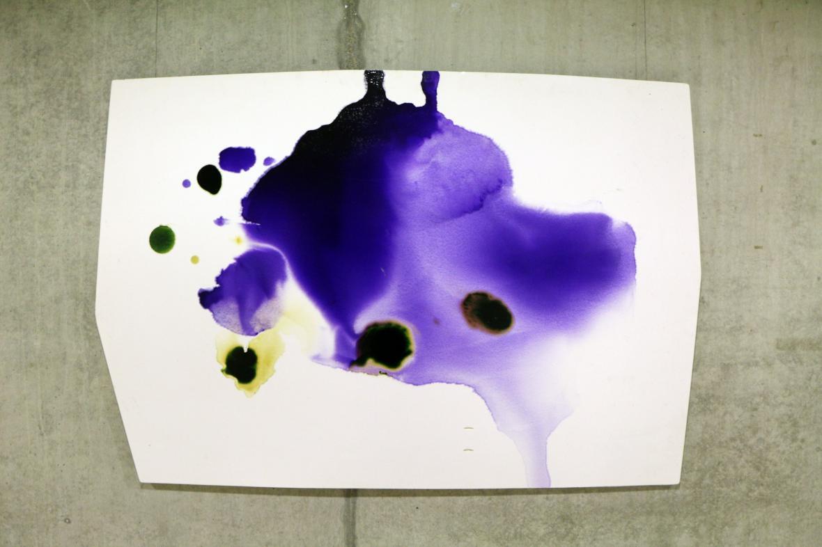 Dílo Ivana Voseckého na výstavě Shaped Canvas