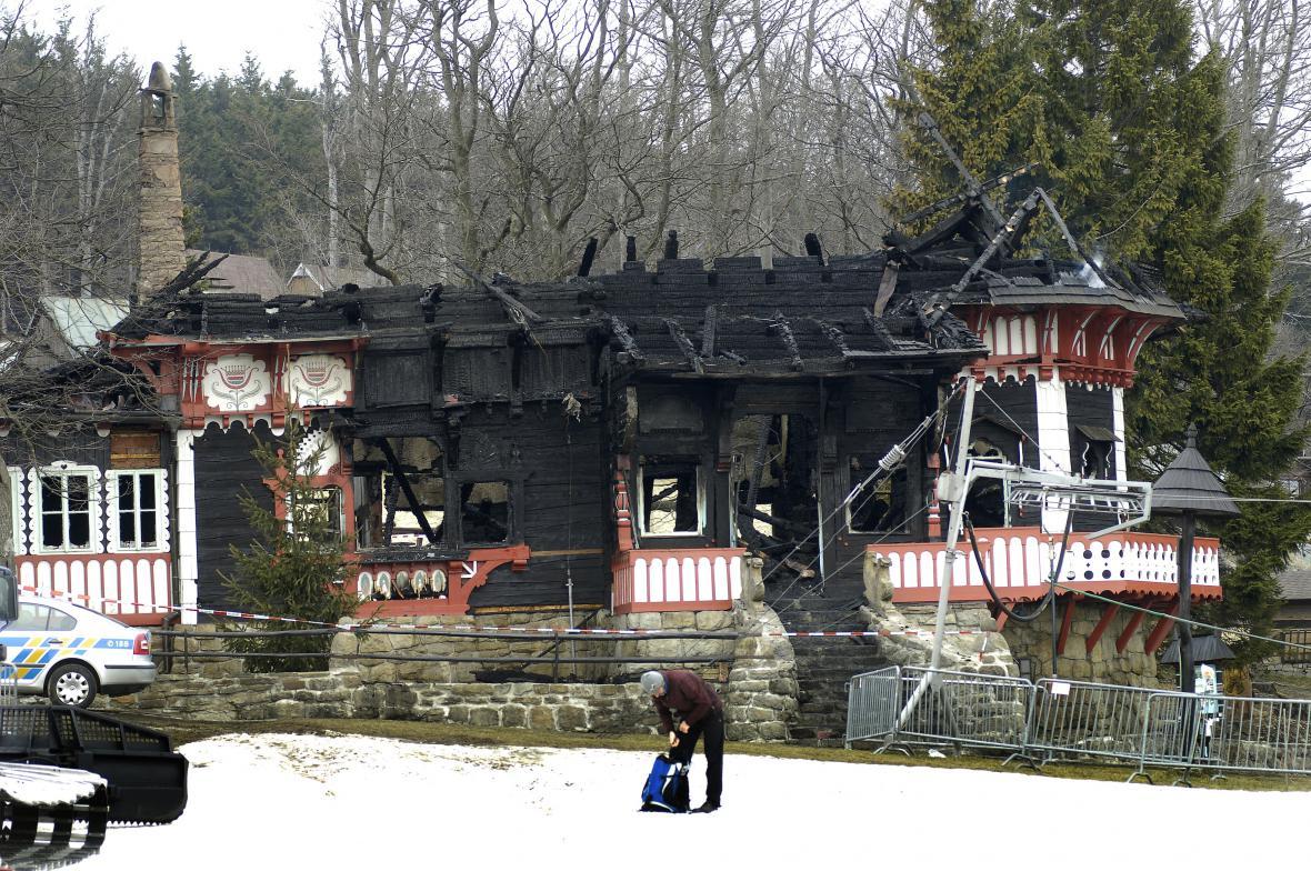 Následky požáru před dvěma lety