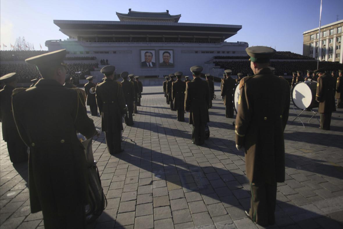 Ceremoniál v Pchjongjangu
