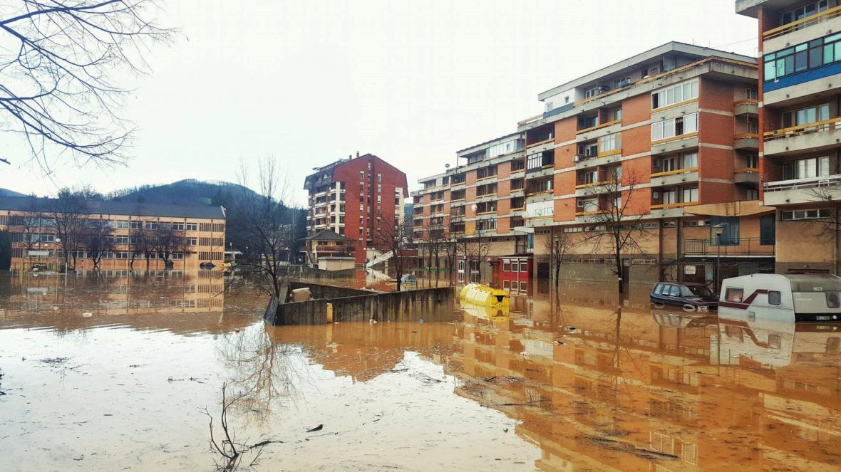 Záplavy v centrálním Srbsku