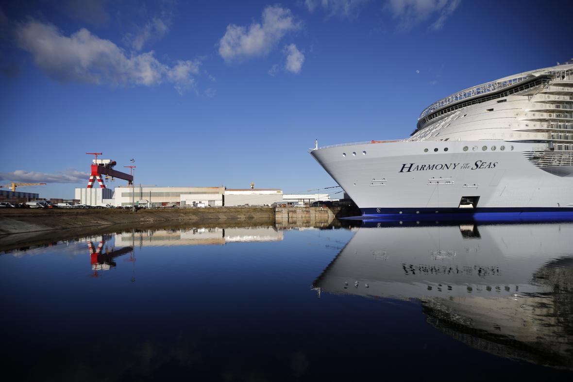 Výletní kolos se poprvé předvedl na otevřeném moři