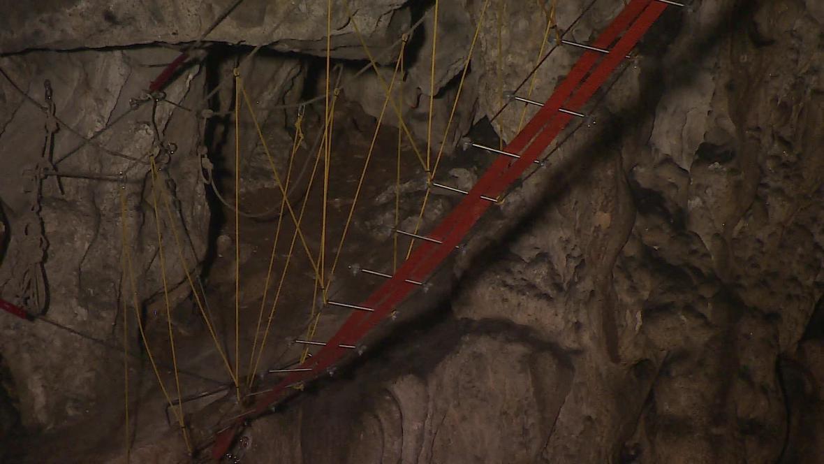 Ferrata v jeskyni Hladomorna