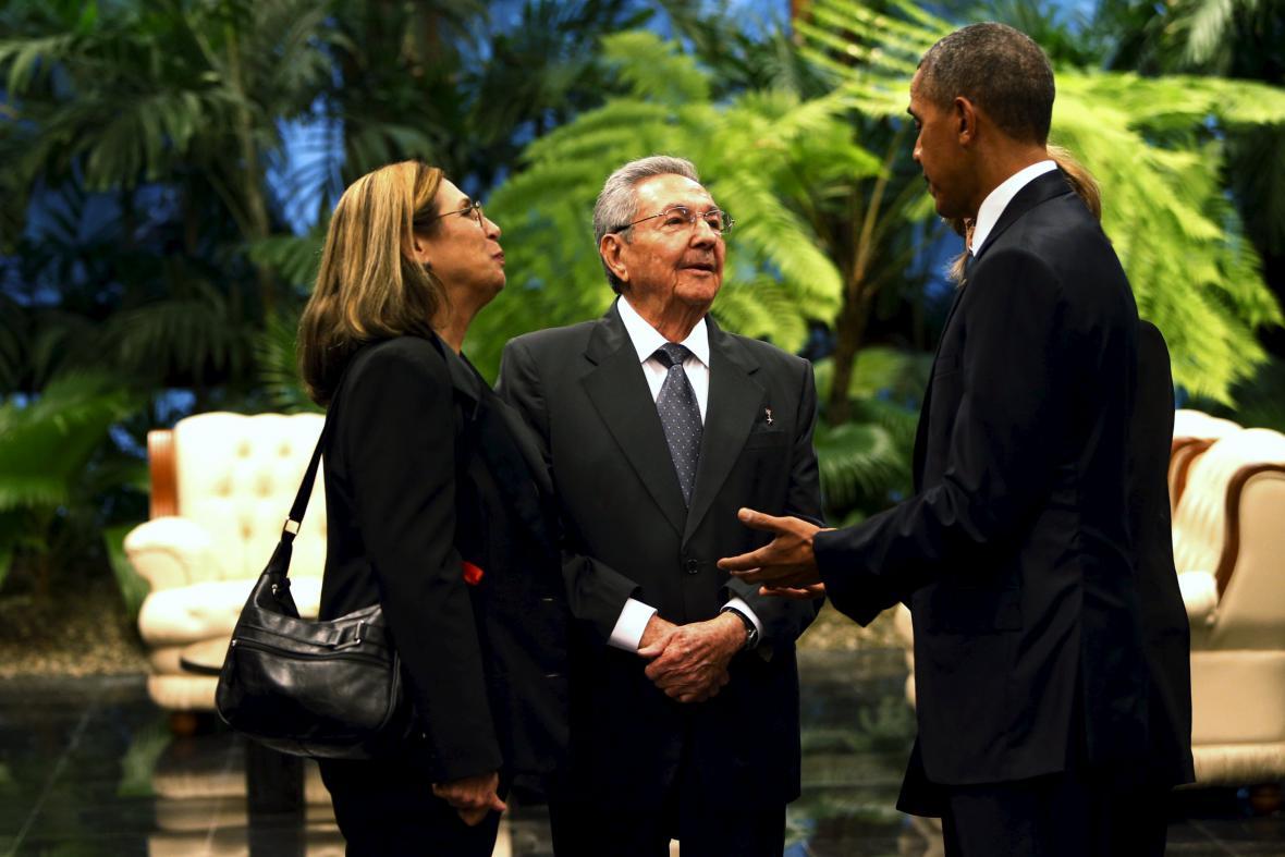 Setkání Obamy a Castra