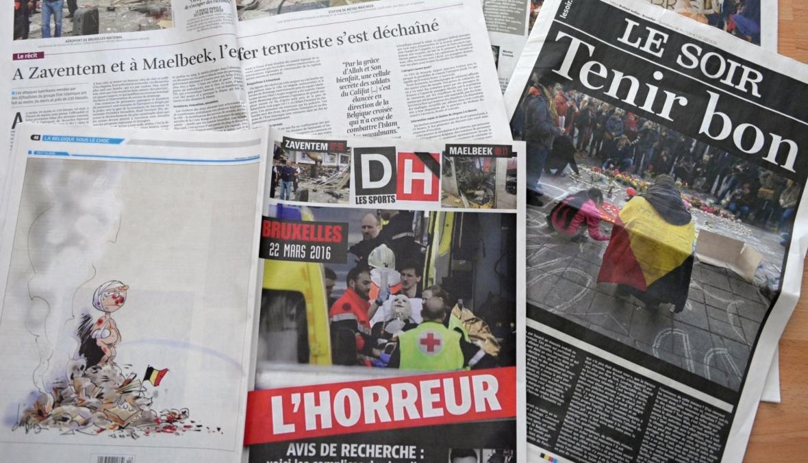 Belgické noviny den po útocích