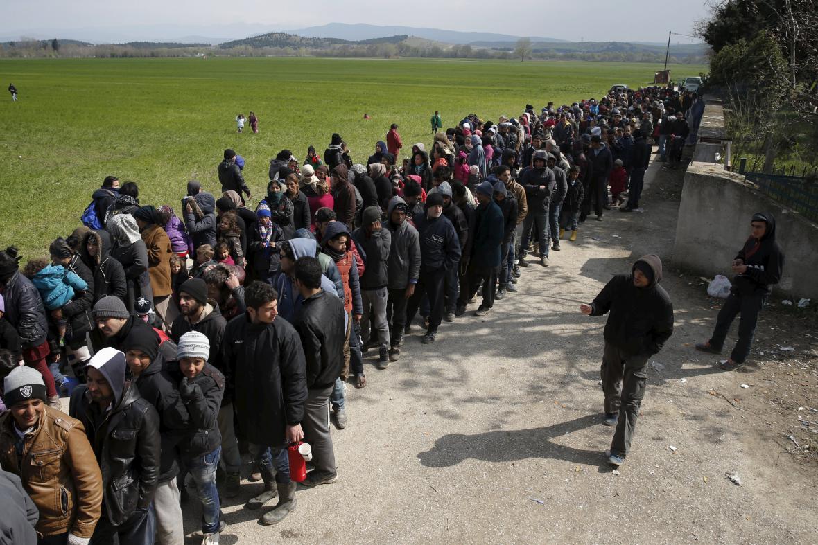 Evakuace uprchlíků z Idomeni