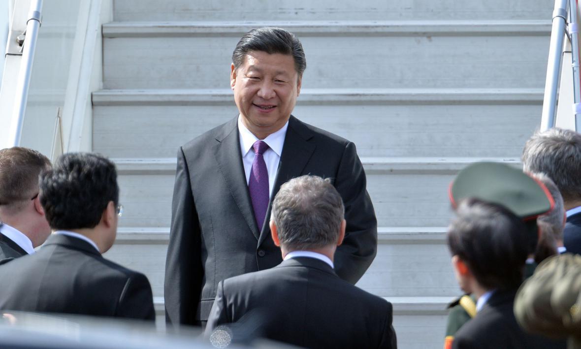 Čínský prezident v Česku