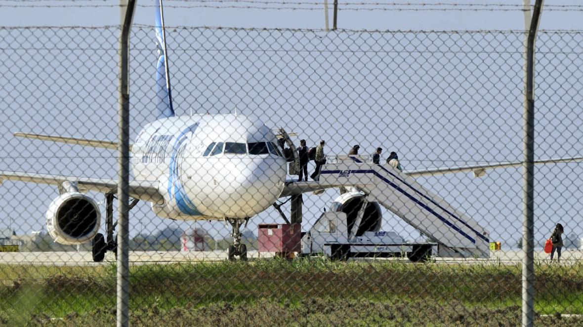 Unesené letadlo na Kypru
