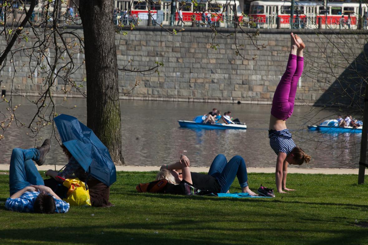 Dubnové teplotní rekordy v Praze