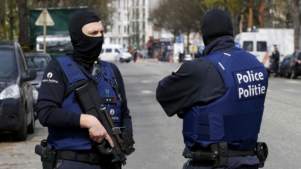 Policie v bruselské čtvrti Etterbeek