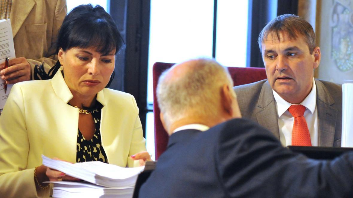 Náměstkyně primátora Klára Liptáková (KDU-ČSL) a primátor Petr Vokřál (ANO)