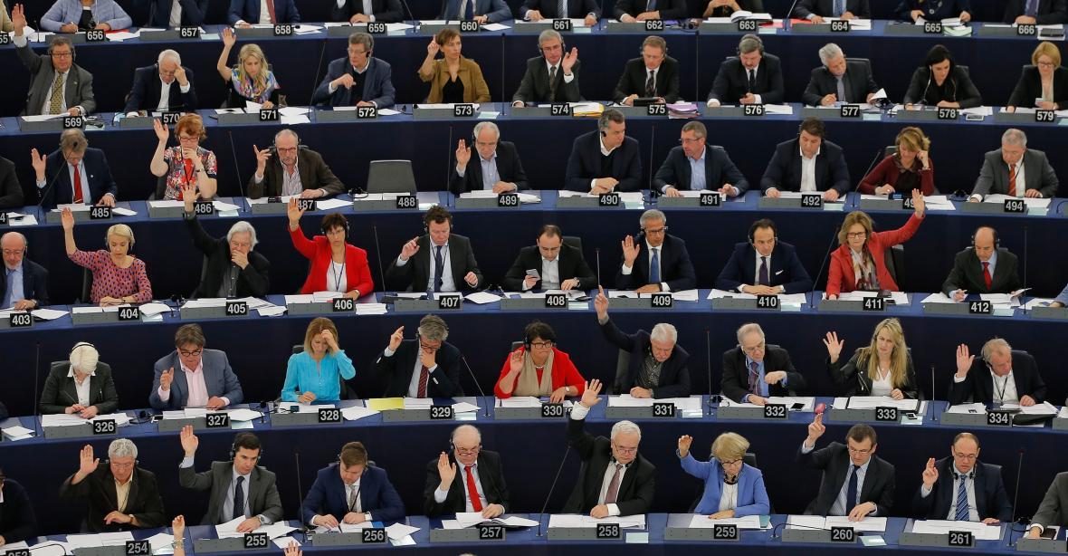 Hlasování v europarlamentu
