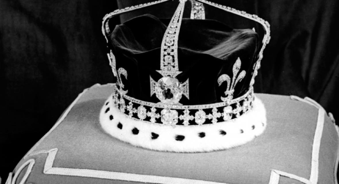Koruna královny Alžběty s vsazeným Koh-i-noorem
