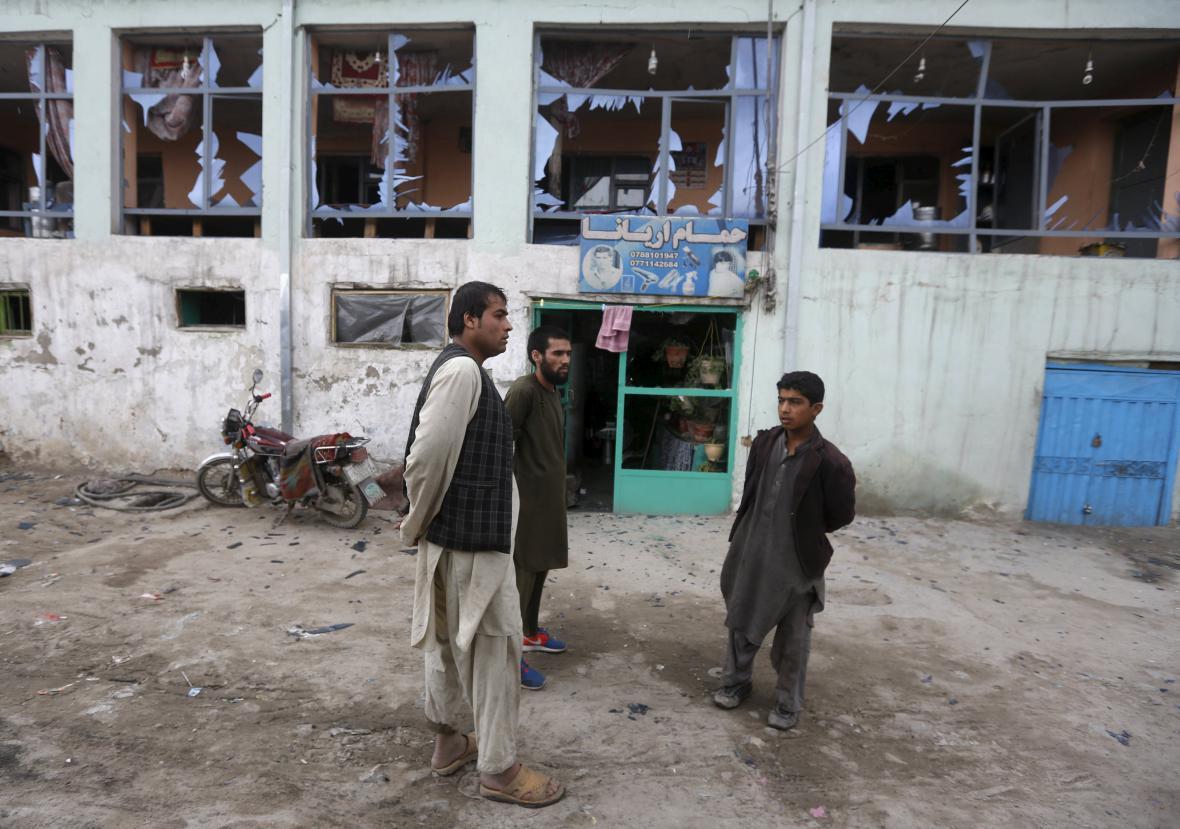 Následky útoku v Kábulu