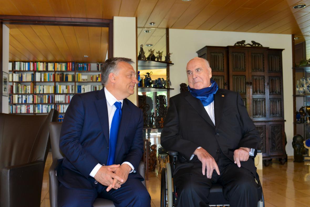 Kohl přijal Orbána ve svém domě