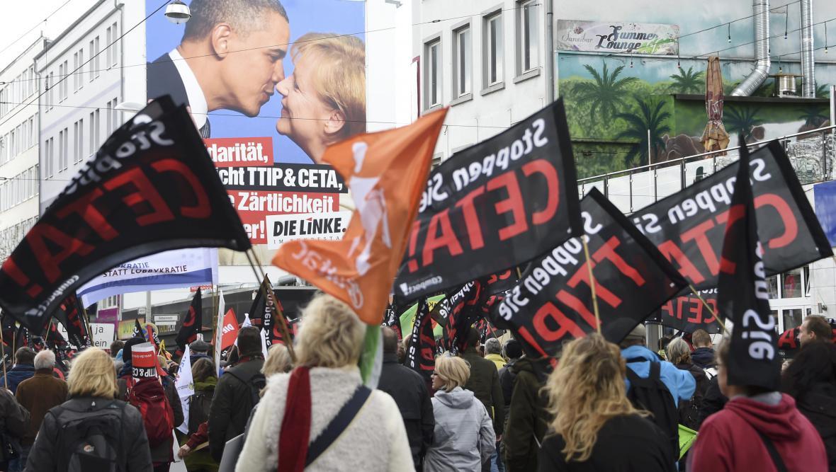 V Hannoveru se protestovalo proti TTIP