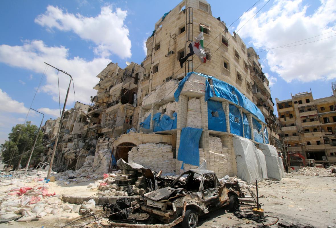 Aleppská nemocnice Kuds zničená bombardováním