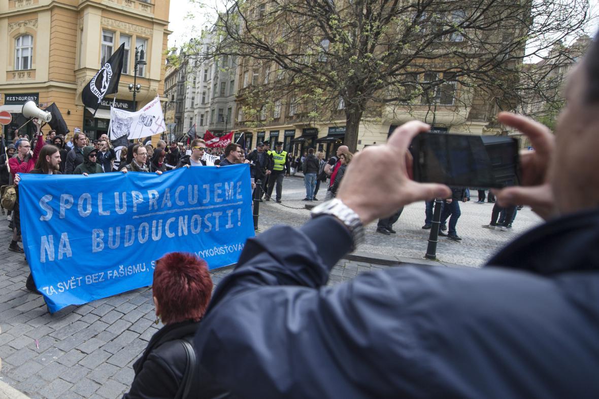 Prvomájové demonstrace v Praze